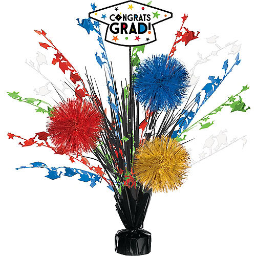 Multicolor Congrats Grad Spray Centerpiece, 18in Image #1