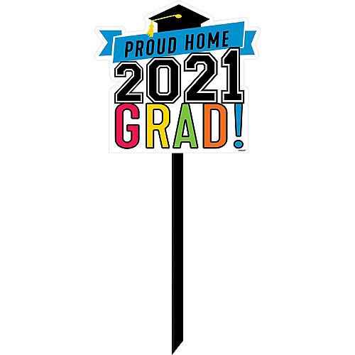 Proud Home 2021 Grad Plastic Yard Sign Image #1