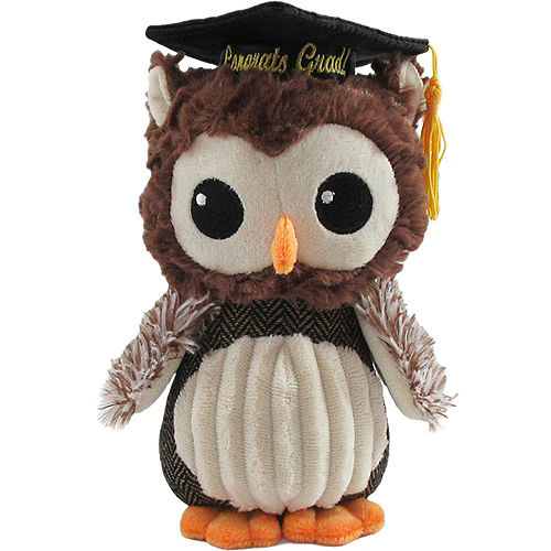 Brown Congrats Grad Owl Plush Image #1
