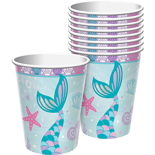 Shimmering Mermaids Paper Cups, 9oz, 8ct Image #1