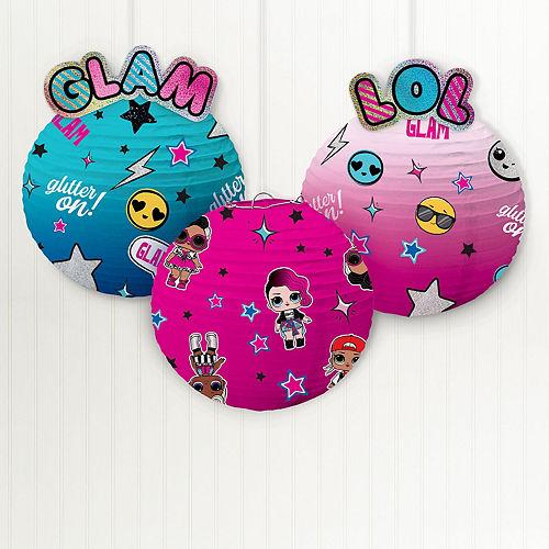 L.O.L. Surprise! Together 4-Eva Glam Paper Lanterns, 9.5in, 3ct Image #1