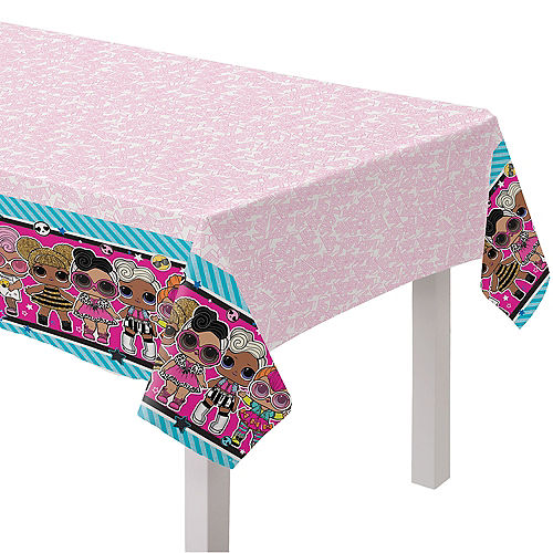 L.O.L. Surprise! Together 4-Eva Plastic Table Cover, 54in x 96in Image #1