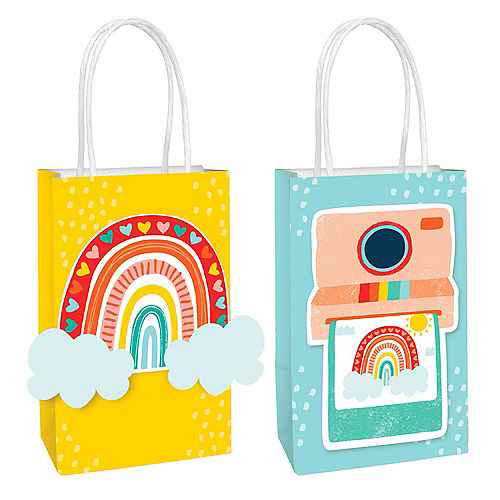 Retro Rainbow Create Your Own Kraft Favor Bag Kit, 8ct Image #1