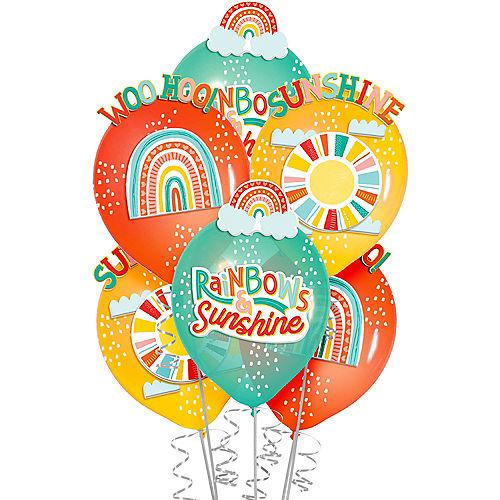 Retro Rainbow Latex Balloon Decorating Kit, 6ct Image #1