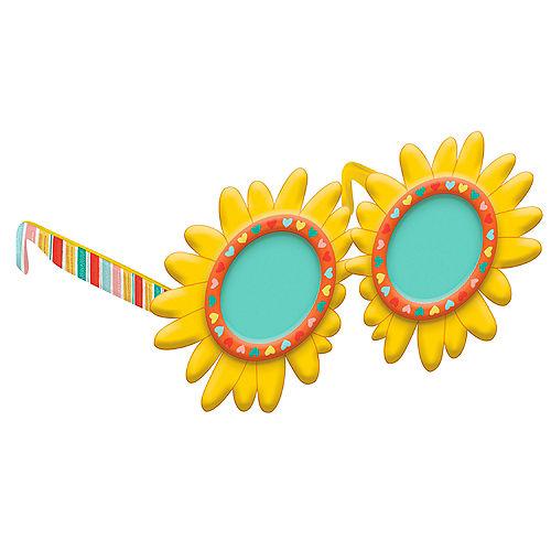 Sunflower Plastic Glasses for Kids - Retro Rainbow Image #1