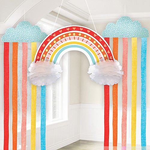 Retro Rainbow & Cloud Hanging Decorations Image #1