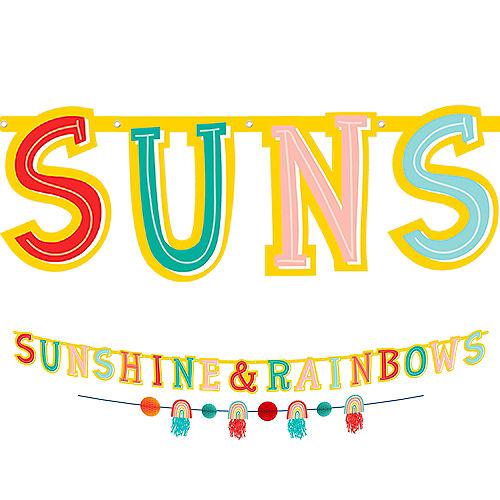 Sunshine & Rainbows Banners, 2ct - Retro Rainbow Image #1