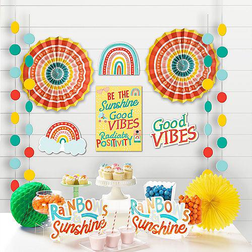 Retro Rainbow Room Decorating Kit, 12ct Image #1