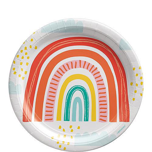Retro Rainbow Lunch Plates, 9in, 8ct Image #1
