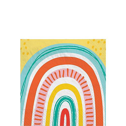 Retro Rainbow Beverage Napkins, 5in, 16ct Image #1