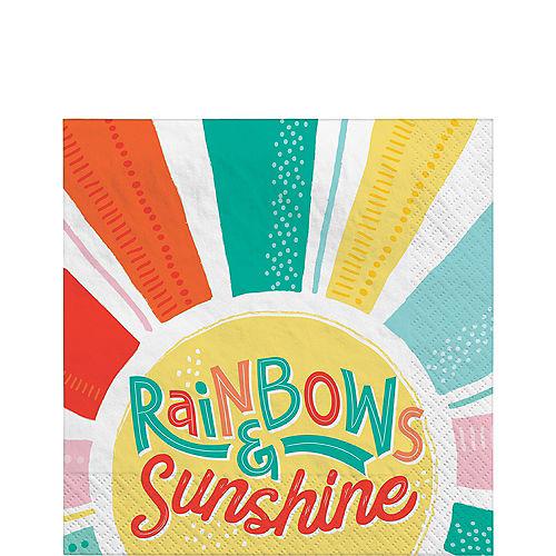 Retro Rainbow Lunch Napkins, 6.5in, 16ct Image #1