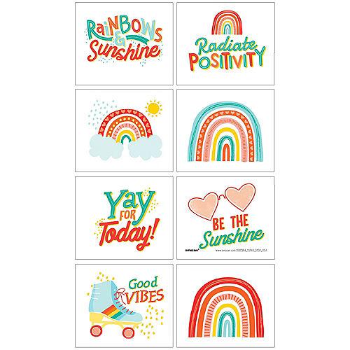 Retro Rainbow Tattoos, 8ct Image #1