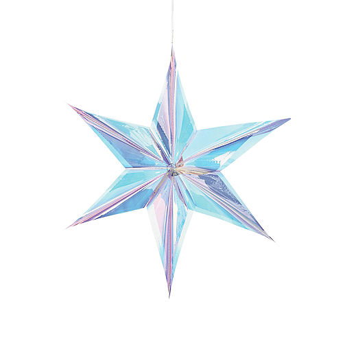 Iridescent Luminous 3D Foil Star Decoration, 24in Image #1