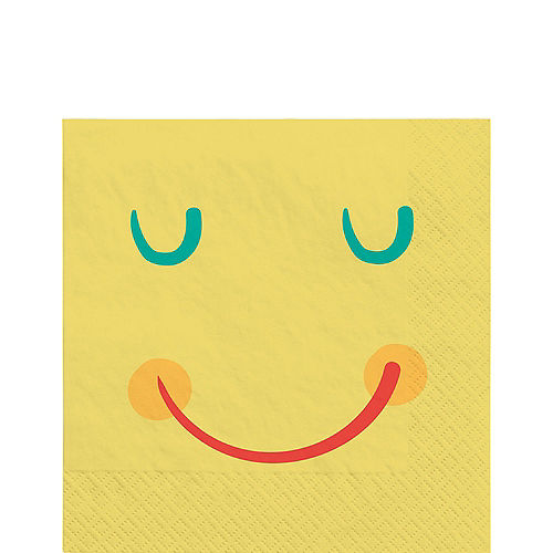 All Smiles Smiley Face Paper Lunch Napkins, 6.5in, 16ct Image #1
