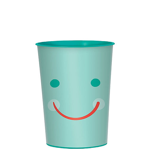 All Smiles Smiley Face Plastic Favor Cup, 16oz Image #1