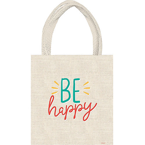 All Smiles Smiley Face Canvas Tote Bag, 9.25in x 11.75in Image #1
