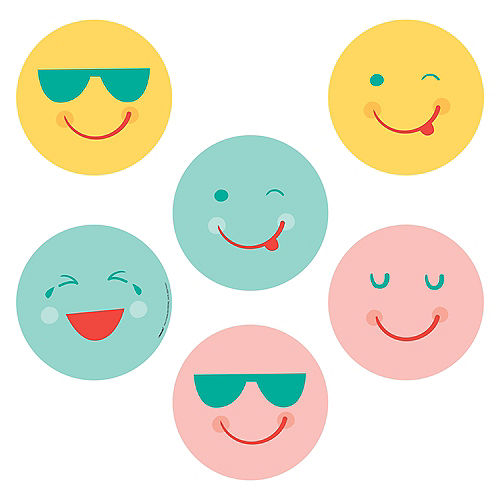 All Smiles Smiley Face Paper Scene Setter with Photo Booth Props Image #2