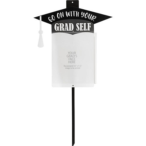 Go On With Your Grad Self Plastic Photo Yard Sign Image #1
