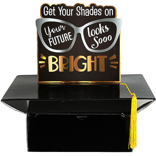 Black, Silver & Gold Bright Future Graduation Party Kit for 8 Guests Image #3