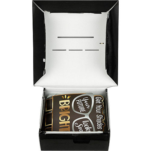 Black, Silver & Gold Bright Future Graduation Party Kit for 8 Guests Image #4