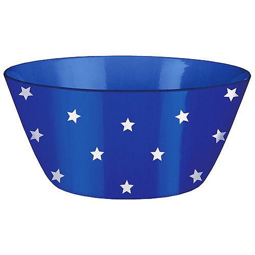 Patriotic Stars Melamine Salad Serving Bowl, 10in x 4in Image #1