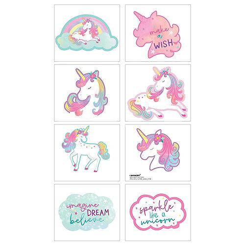 Enchanted Unicorn Tattoos, 8ct Image #1