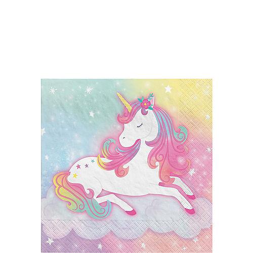 Enchanted Unicorn Paper Beverage Napkins, 5in, 16ct Image #1