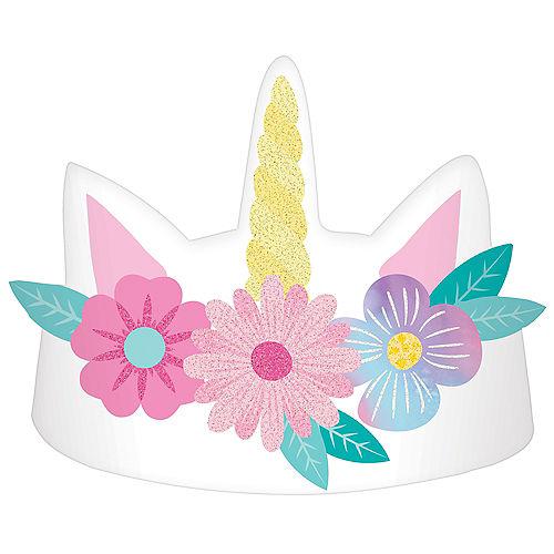 Enchanted Unicorn Crowns, 8ct Image #1