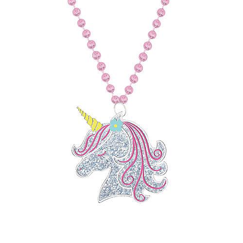 Enchanted Unicorn Pendant Bead Necklace Image #1