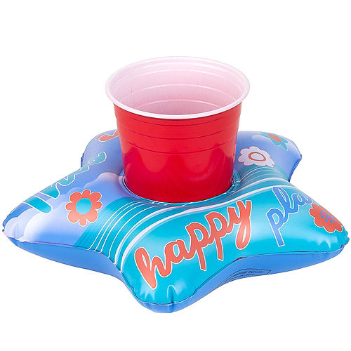 Inflatable Happy Place Drink Float, 9.8in x 9.8in Image #1