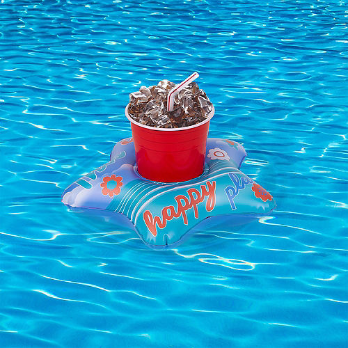 Inflatable Happy Place Drink Float, 9.8in x 9.8in Image #2