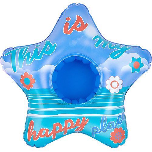 Inflatable Happy Place Drink Float, 9.8in x 9.8in Image #3
