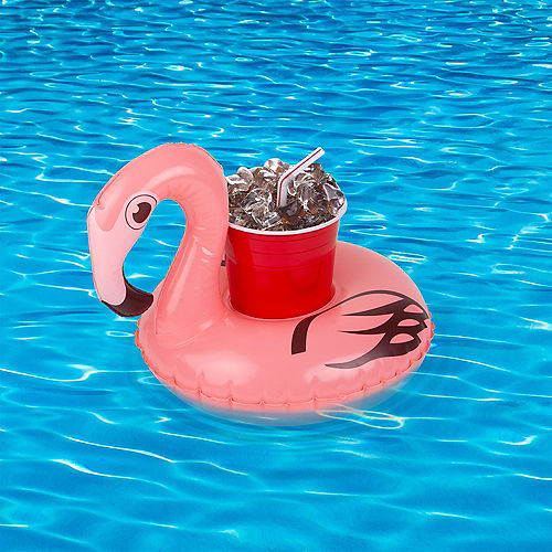 Inflatable Flamingo Drink Float, 8.6in x 10.4in Image #2