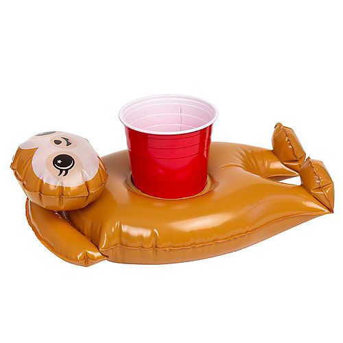 Inflatable Sloth Drink Float, 7.4in x 13in Image #1