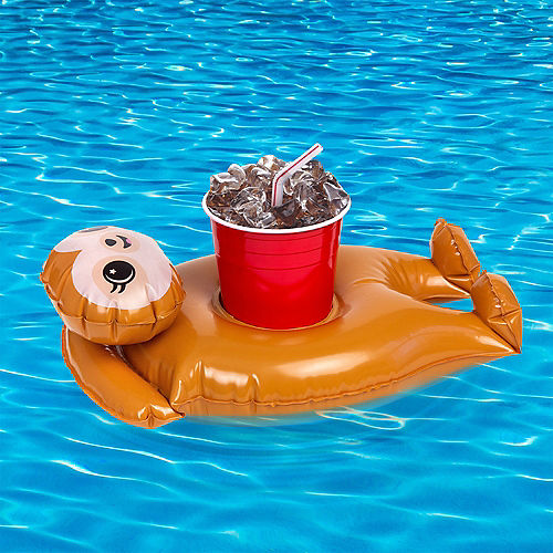 Inflatable Sloth Drink Float, 7.4in x 13in Image #2