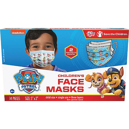 PAW Patrol Disposable Protective Face Masks for Kids, Ages 2-7, 14ct Image #3