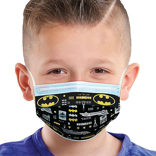 Batman Disposable Protective Face Masks for Kids, Ages 8 and Up, 14ct Image #1