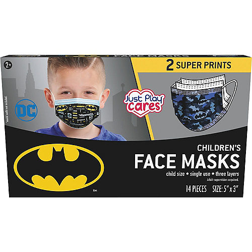 Batman Disposable Protective Face Masks for Kids, Ages 8 and Up, 14ct Image #3