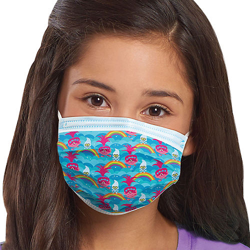 Trolls Disposable Protective Face Masks for Kids, Ages 8 and Up, 14ct Image #1