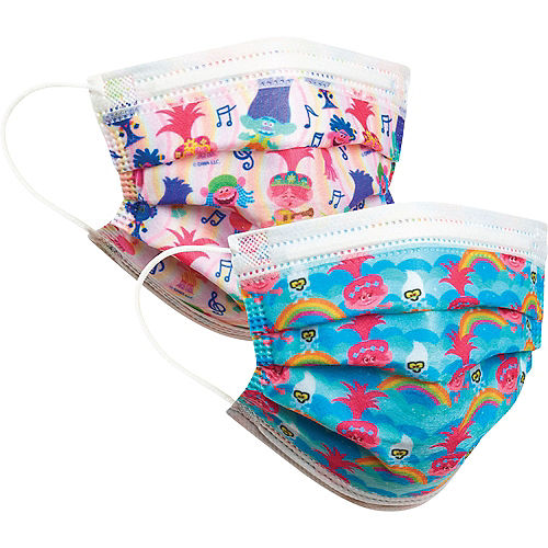 Trolls Disposable Protective Face Masks for Kids, Ages 8 and Up, 14ct Image #2