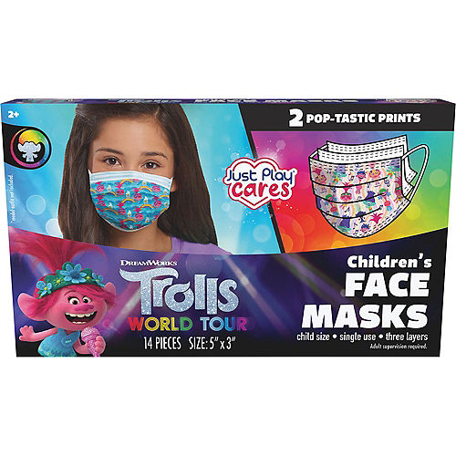 Trolls Disposable Protective Face Masks for Kids, Ages 8 and Up, 14ct Image #3