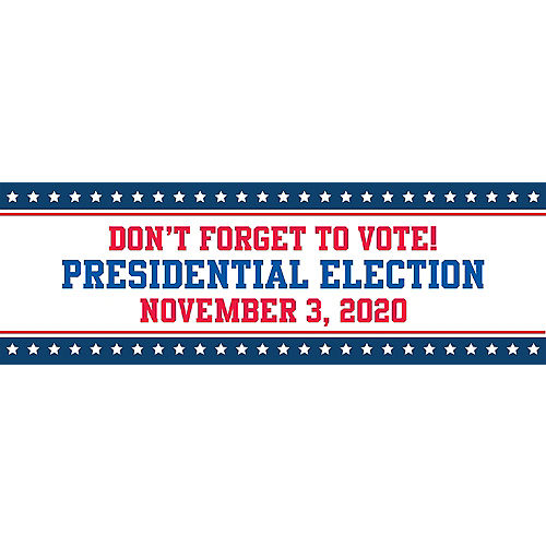 Custom Stars & Stripes Election Horizontal Banner Image #1