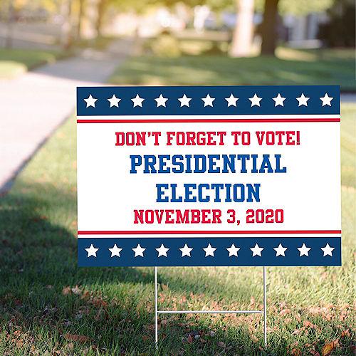 Custom Stars & Stripes Election Yard Sign Image #1