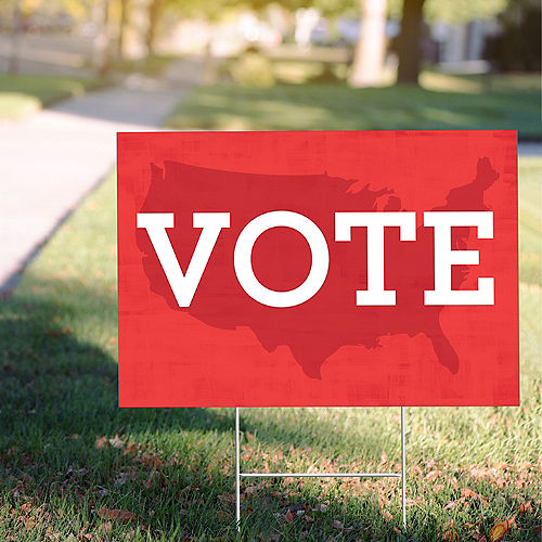 Red USA Vote Yard Sign Image #1