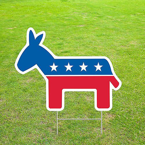 Democratic Donkey Yard Sign Image #1