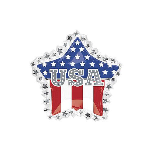 Patriotic American Flag USA Star Balloon Bouquet, 8pc Image #2