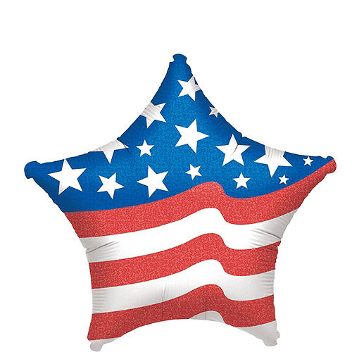 Patriotic American Flag 3D USA Star Balloon Bouquet, 6pc Image #4
