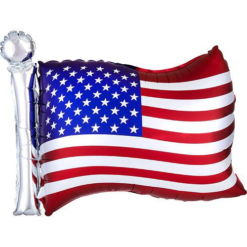 Patriotic American Flag Star Balloon Bouquet, 9pc Image #6