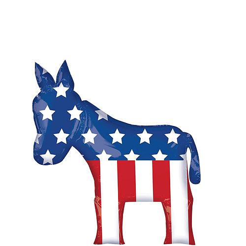 Democratic Donkey & Star Election Balloon Bouquet, 9pc Image #3