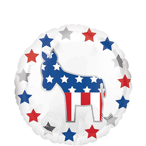 Silver USA Democratic Donkey Election Balloon Bouquet, 6pc Image #3